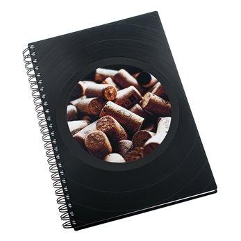 Zápisník z vinylových desek A5 - bez linek - In vino veritas