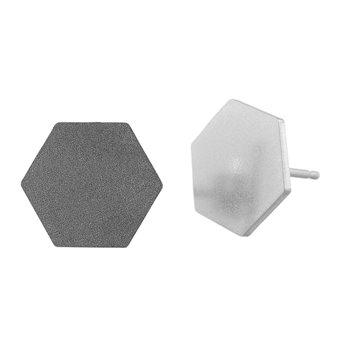 Ocelové náušnice pecky - Šestiuhelník Velký