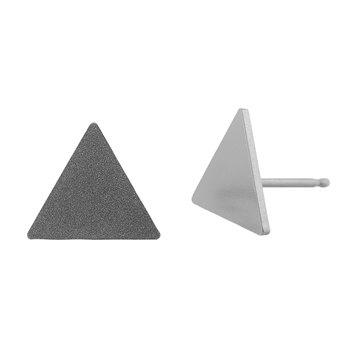 Ocelové náušnice pecky - Trojuhelník Velký