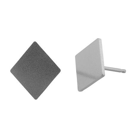 Ocelové náušnice pecky - Kosočtverec Velký