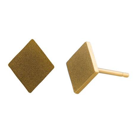 Ocelové náušnice pecky - Kosočtverec - Gold