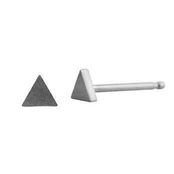 Ocelové náušnice pecky - Mini trojuhelník