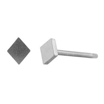 Ocelové náušnice pecky - Mini kosočtverec