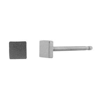 Ocelové náušnice pecky - Miničtverec