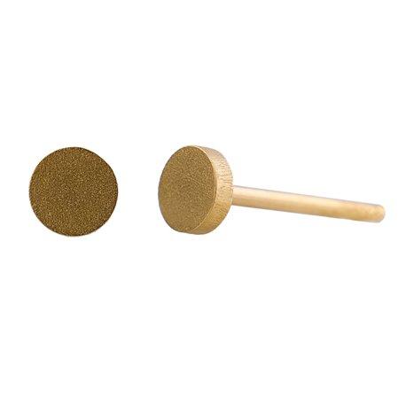 Ocelové náušnice pecky - Minikruh - Gold