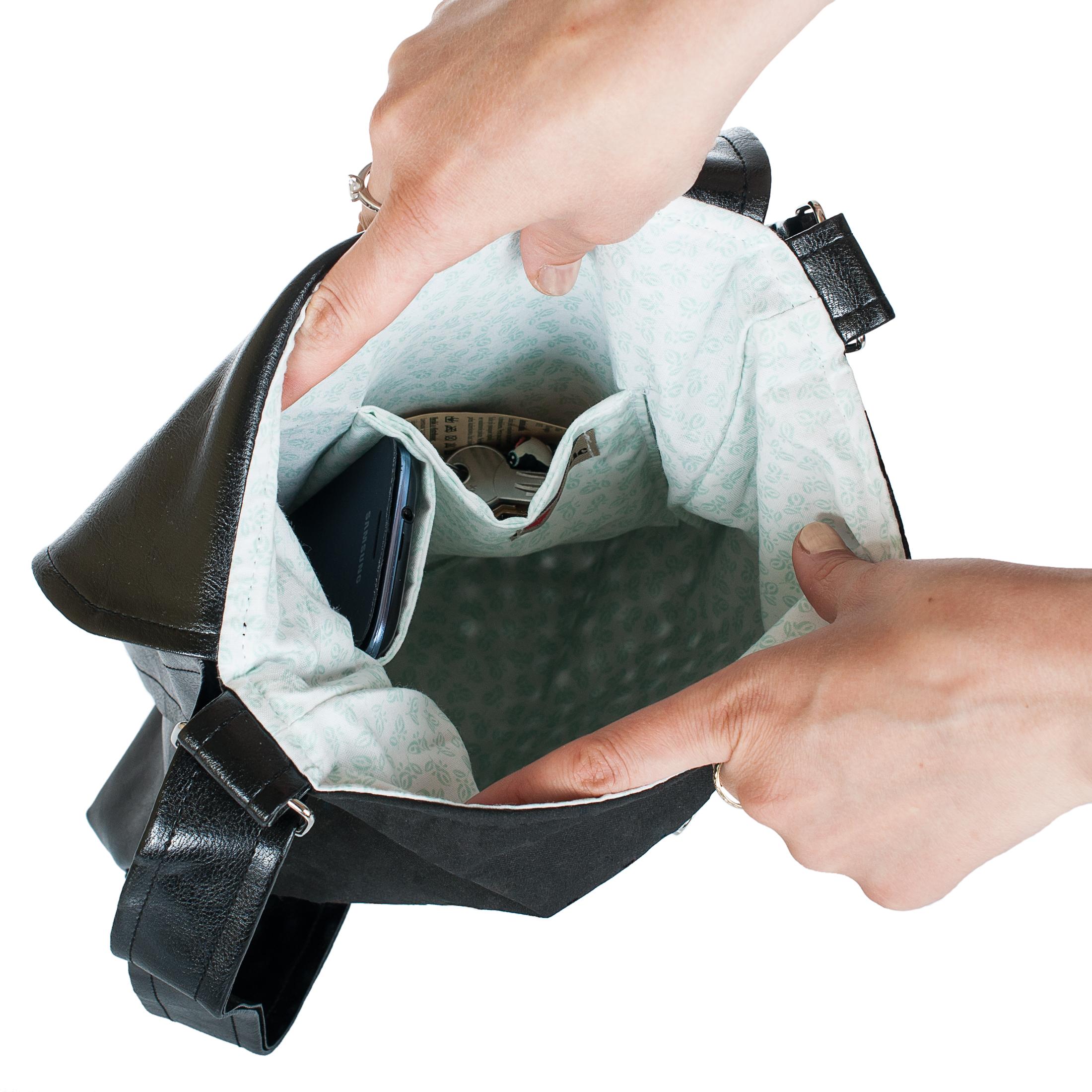 Dámská kabelka Dafné z lovemusic - detail pohled dovnitř